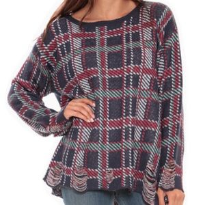 Wildfox White Label All Over Plaid Lennon Sweater